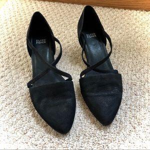 EUC - Eileen Fisher - Black Block Heel Shoes - 10